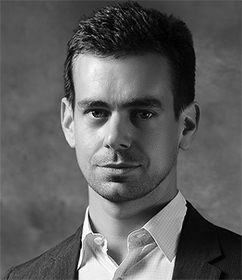 Jack Dorsey : CEO of Square; Co-founder of Twitter